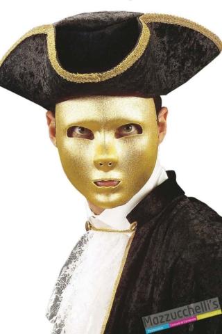 MASCHERA teatrale ORO carnevale halloween feste a tema- Mazzucchellis