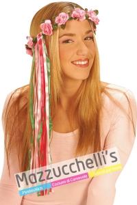 Corona Fiori Con Nastro '60 '70 hippie figlia dei fiori - Mazzucchellis