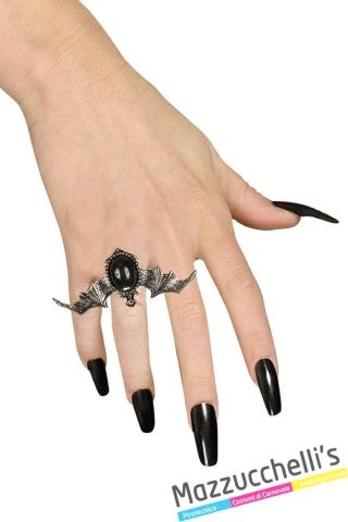 anello con pipistrello vampira strega halloween - Mazzucchellis 1