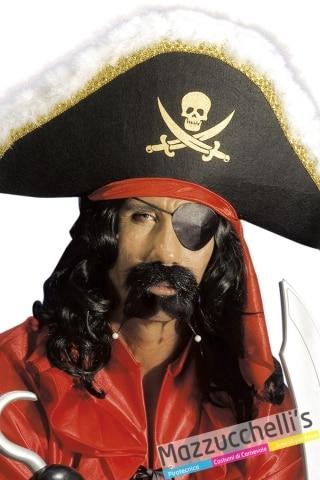 baffi e pizzetto ccon perle pirata corsaro film - Mazzucchellis