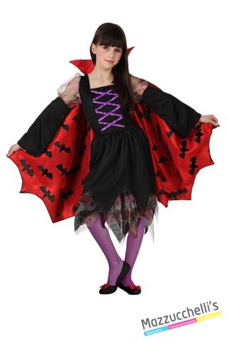 costume bambina vampira horror carnevale halloween o altre feste a tema - Mazzucchellis