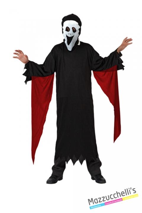 costume bambino fantasma scream carnevale halloween o altre feste a tema - Mazzucchellis