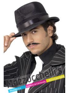 CAPPELLO GANGSTER NERO Gangster Anni '20 Carnevale Halloween e altre feste a tema