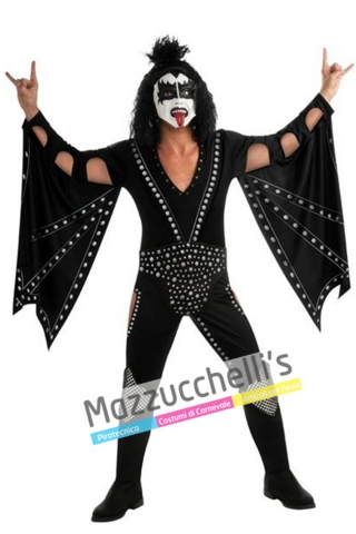 """Costume Cantante e bassista """"Gene Simmons"""" dei Kiss '80 - Mazzucchellis"""