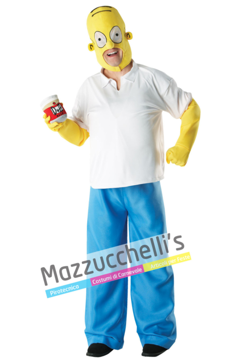 Costume Homer Simpson Ufficiale - Mazzucchellis