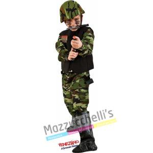Costume Bambino Militare Commando