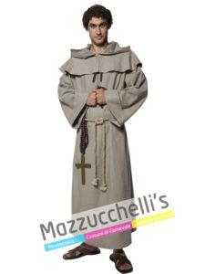 """Il costume da Uomo Frate """"Fra Tuck"""" compagno di avventure del giustiziere Robin Hood"""