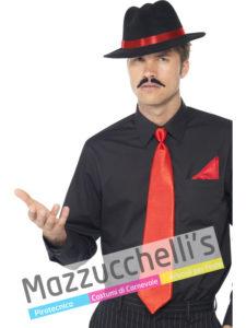 KIT GANGSTER, cappello, foulard, cravatta Anni '20 Gangster Carnevale, Halloween e altre feste a tema