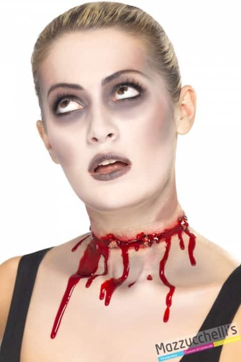 cicatrice taglio zombie horror halloween carnevale feste a tema - Mazzucchellis