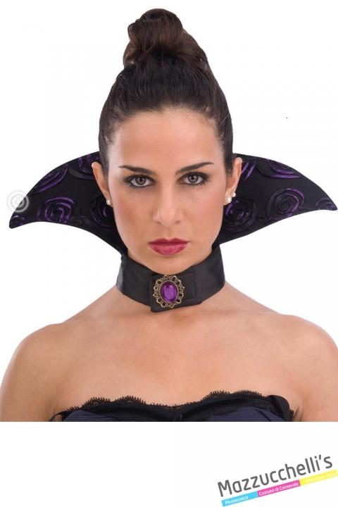 collarino vampiro viola horror halloween carnevale o altre feste a tema - Mazzucchellis