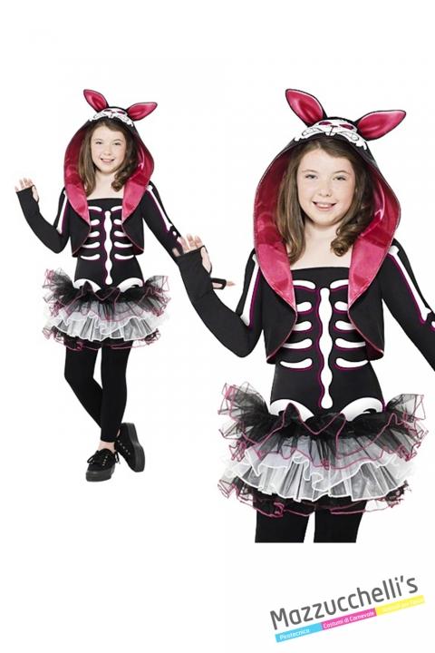 costume bambina scheletro carnevale halloween o altre feste a tema - Mazzucchellis