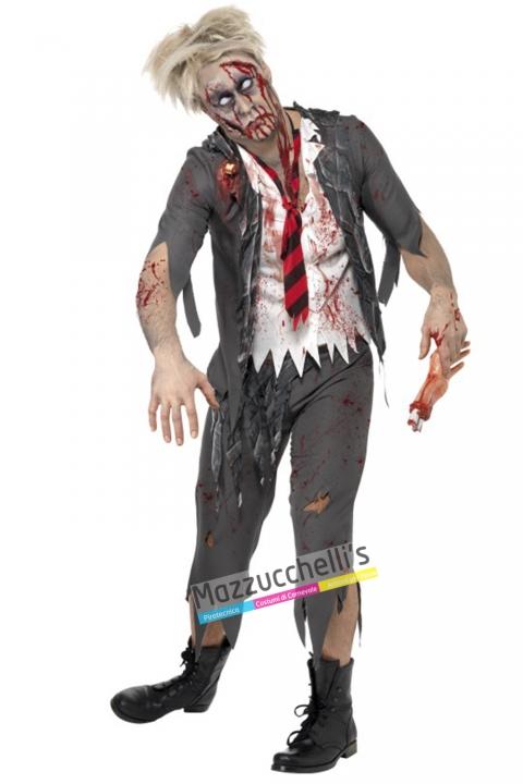 costume studente school horror zombie carnevale halloween o altre feste a tema - Mazzucchellis