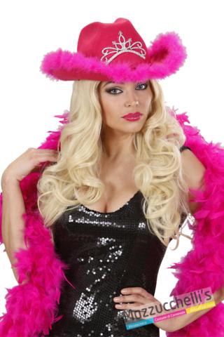 CAPPELLO COWgirl western wild west rosa con corona adulta addio nubilato - Mazzucchellis