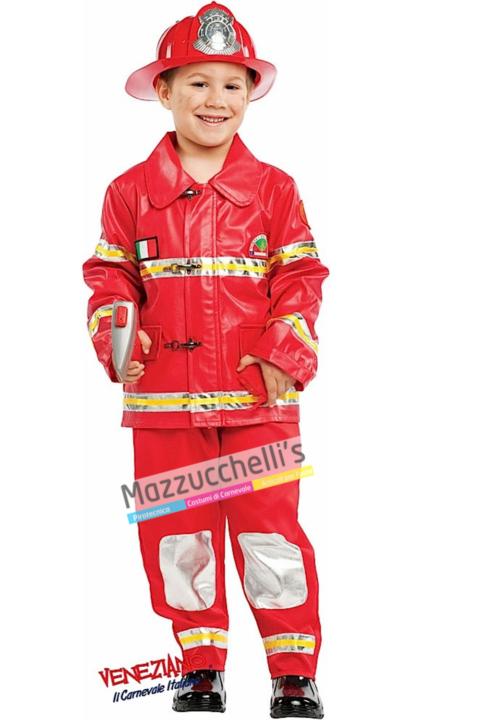 Costume Pompiere Vigile del Fuoco - Mazzucchellis