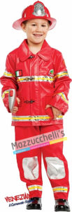 Costume Bambino Mestiere Lavoro Pompiere Vigile del Fuoco