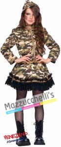 Costume Ragazza Mimetica Soldatessa