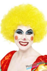 PARRUCCA RICCIA AFRO clown gialla- Mazzucchellis