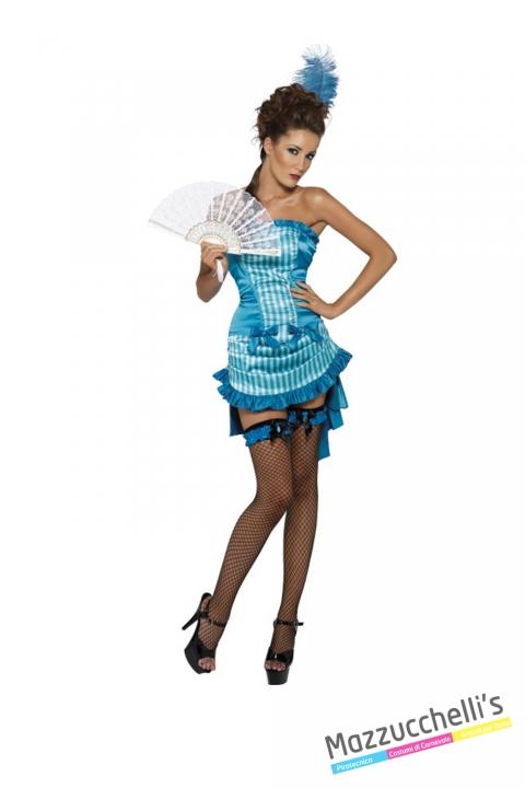 COSTUME Costume Sexy Donna del Saloon CARNEVALE HALLOWEEN O ALTRE FESTE A TEMA - Mazzucchellis