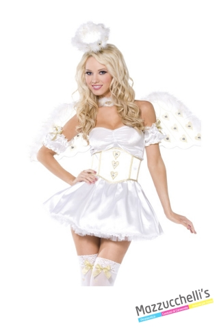 COSTUME donna sexy ANGELO BIANCO CARNEVALE HALLOWEEN O ALTRE FESTE A TEMA - Mazzucchellis