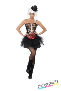 COSTUME donna sexy SCHELETRO HORROR ZOMBIE CARNEVALE HALLOWEEN O ALTRE FESTE A TEMA - Mazzucchellis