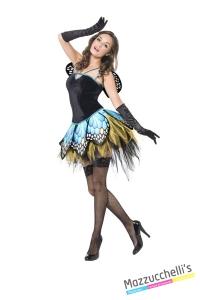 COSTUME donna sexy farfalla CARNEVALE HALLOWEEN O ALTRE FESTE A TEMA - Mazzucchellis