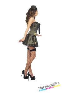 COSTUME donna sexy militare CARNEVALE HALLOWEEN O ALTRE FESTE A TEMA - Mazzucchellis