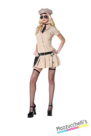 COSTUME donna sexy poliziotta divisa sceriffo mestieri lavori CARNEVALE HALLOWEEN O ALTRE FESTE A TEMA - Mazzucchellis