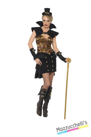 COSTUME donna sexy steampunk viaggio nel tempo CARNEVALE HALLOWEEN O ALTRE FESTE A TEMA - Mazzucchellis