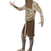 COSTUME uomo faraone egiziano horror zombie CARNEVALE HALLOWEEN O ALTRE FESTE A TEMA - Mazzucchellis
