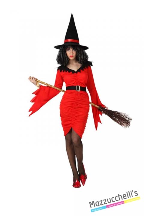 costume DONNA STREGA O DIAVOLETTA carnevale halloween o altre feste a tema - Mazzucchellis