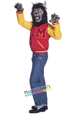 costume HIGHT SCHOOL michael J. fox lupo mannaro voglia di vincere anni 80 horror carnevale halloween o altre feste a tema - Mazzucchellis
