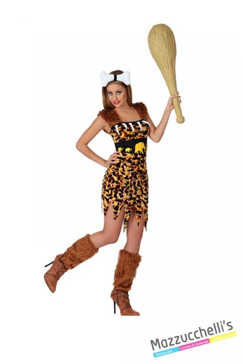 costume PRIMITIVA CAVERNICOLA carnevale halloween o altre feste a tema - Mazzucchellis