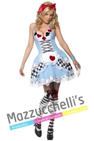 costume alice in wonderland del paese delle meraviglie film fiaba - Mazzucchellis