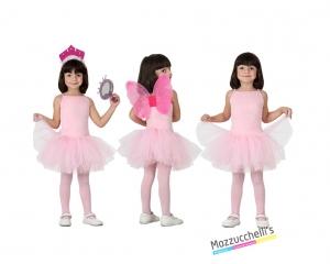 costume bambina ballerina rosa carnevale halloween o altre feste a tema - Mazzucchellis
