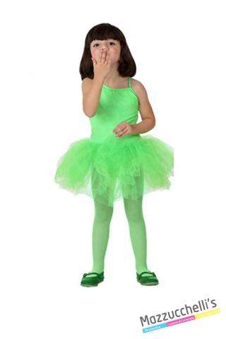 costume bambina ballerina verde carnevale halloween o altre feste a tema - Mazzucchellis
