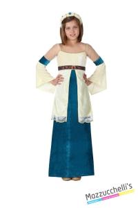 costume bambina dama medievale carnevale halloween o altre feste a tema - Mazzucchellis
