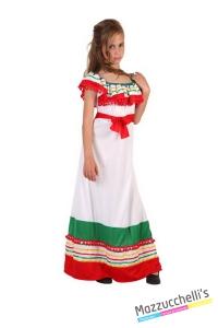 costume bambina messicana popoli del mondo carnevale halloween o altre feste a tema - Mazzucchellis