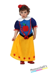 costume bambina neonata biancaneve fiaba biancaneve e i sette nani carnevale halloween o altre feste a tema - Mazzucchellis