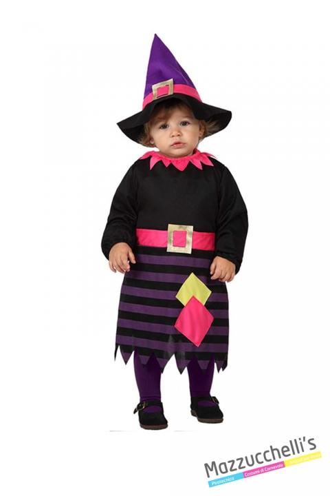 costume bambina neonata strega carnevale halloween o altre feste a tema - Mazzucchellis
