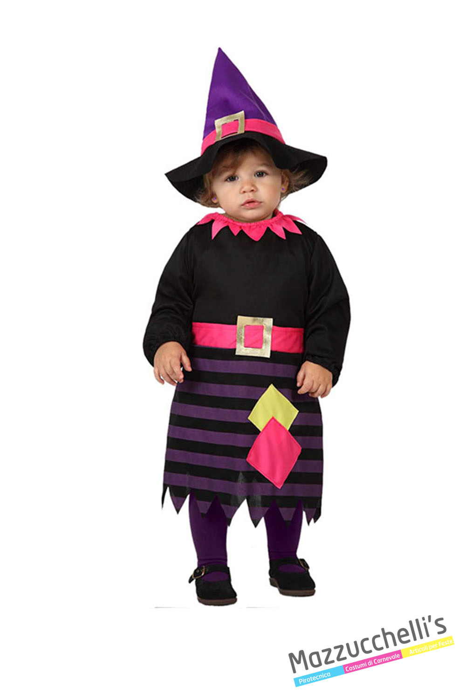 Vestiti Halloween Strega.Costume Neonata Strega