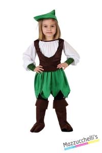 costume bambina robin hood carnevale halloween o altre feste a tema - Mazzucchellis