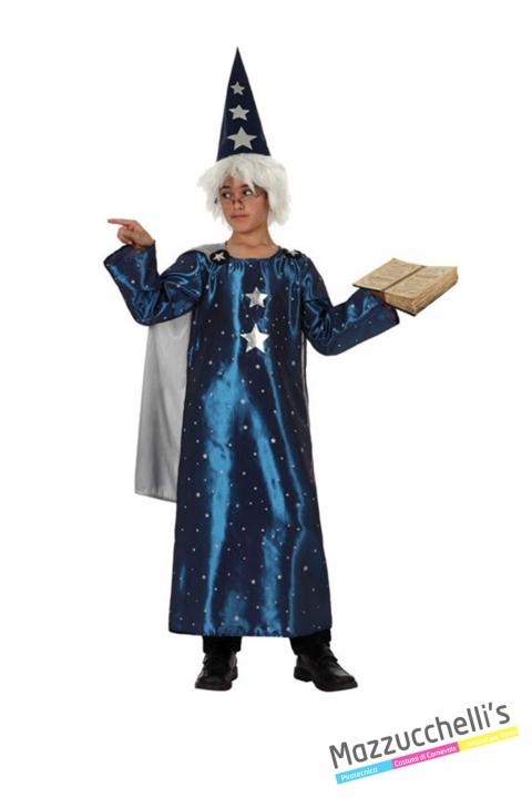 costume bambino mago azzurro carnevale halloween o altre feste a tema - Mazzucchellis