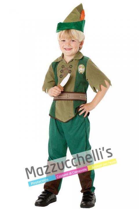 costume bambino peter pan favola film - Mazzucchellis