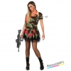 costume donna militare insanguinata horror zombie carnevale halloween o altre feste a tema - Mazzucchellis