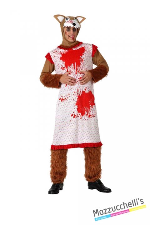 costume lupo vestito da nonna insanguinato horror zombie carnevale halloween o altre feste a tema - Mazzucchellis