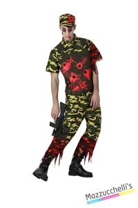 costume militare horror zombie carnevale halloween o altre feste a tema - Mazzucchellis