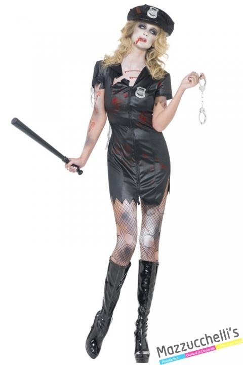 costume sexy poliziotta horror halloween , carnevale o altre feste a tema - Mazzucchellis
