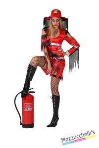costume sexy pompiere HORROR ZOMBIE carnevale halloween o altre feste a tema - Mazzucchellis