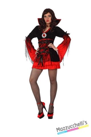 costume sexy vampira donna carnevale halloween o altre feste a tema - Mazzucchellis