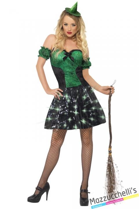 costume strega verde halloween , carnevale o altre feste a tema - Mazzucchellis